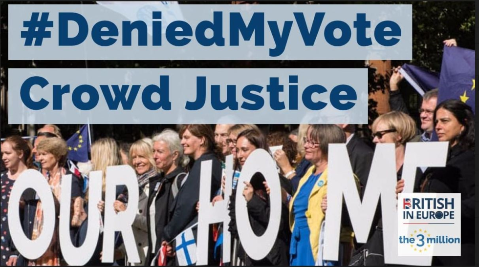 #DeniedMyVote - European Citizens in the UK move ahead with legal challenge for systematic violations of democratic rights at the European Elections